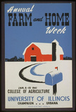 University of Illinois (Annual Farm and Home Week) Art Poster Print Masterprint