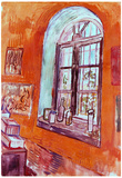 Vincent Van Gogh Window of Vincent's Studio at the Asylum Art Print Poster Poster