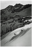 Squaw Valley California Skiing Archival Photo Poster Print Póster