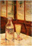 Vincent Van Gogh Still Life with Absinthe Art Print Poster Posters