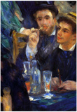 Pierre Auguste Renoir The Ball in the Moulin de la Galette Detail Art Print Poster Poster