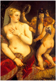 Titian Venus in Front of the Mirror Art Print Poster Poster