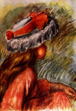 Pierre Auguste Renoir Girl&#39;s Head Art Print Poster Masterprint