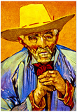 Vincent Van Gogh The Peasant Art Print Poster Print