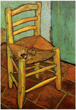 Vincent Van Gogh (Vincent's chair with pipe) Art Poster Print Photo