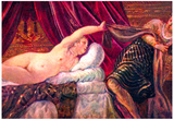 Tintoretto Joseph and the wife of Potiphar Art Print Poster Prints