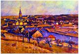 Paul Cezanne Landscape of Ile de France Art Print Poster Prints