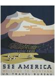 US Travel Bureau (See America, Welcome to Montana) Art Poster Print Print