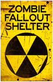 Zombie Fallout Shelter Sign Poster Print Masterprint