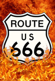 Route 666 Highway to Hell Poster Print Masterprint