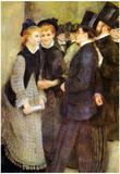 Pierre Auguste Renoir Leaving the Conservatoire Art Print Poster Posters