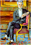 Paul Cezanne Victor Chocquet Seated Portrait Art Print Poster Prints