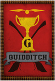 Quidditch Champions House Trophy Poster Print Plakát