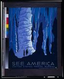 US Travel Bureau (See America, Cave) Art Poster Print Masterprint