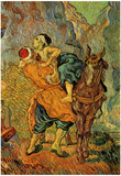 Vincent Van Gogh (The Good Samaritan (after Delacroix)) Art Poster Print Posters