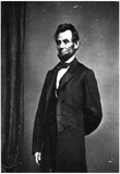 President Abraham Lincoln Standing Archival Photo Poster Print Prints