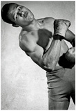 Sugar Ray Robinson Flexing Archival Photo Sports Poster Print Posters