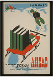 WPA (A Year of Good Reading Ahead) Art Poster Print Plakat