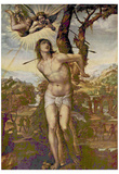 Sodoma (St. Sebastian and Madonna with Saints) Art Poster Print Reprodukcje