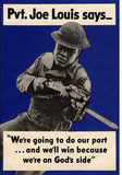 Pvt Joe Louis Says We're Going To Do Our Part WWII War Propaganda Art Print Poster Masterprint