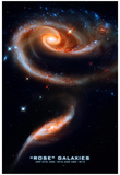 Rose Galaxies Hubble Space Photo Poster Print Prints