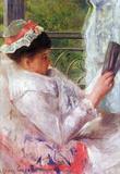 Reading Mrs.Lydia Cassat by Cassat Art Print Poster Masterprint
