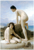 William-Adolphe Bouguereau Les Deux Baigneuses Art Print Poster Prints