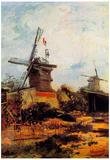 Vincent Van Gogh Le Moulin de Blute-Fin Art Print Poster Prints