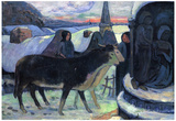 Paul Gauguin Christmas Art Print Poster Poster