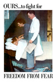 Norman Rockwell Freedom From Fear WWII War Propaganda Art Print Poster Prints