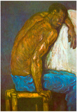 Paul Cezanne Negro Art Print Poster Poster