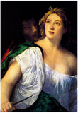 Titian Suicide of Lucretia Art Print Poster Posters