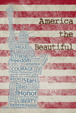 America the Beautiful Prints