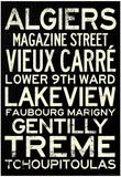 New Orleans Neighborhoods Vintage Subway Style RetroMetro Travel Poster Plakát
