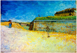 Vincent Van Gogh The Ramparts of Paris 2 Art Print Poster Posters