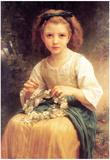William-Adolphe Bouguereau Child Braiding A Crown Art Print Poster Poster