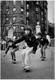 Skateboarding in Boston Common 1976 Archival Photo Poster Poster
