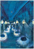 Walter Gramatte Night Road Art Print Poster Photo