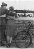 World War II Soldier and Girl Archival Photo Poster Print Posters