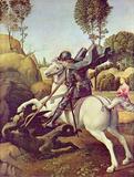 Raffael (St. George fighting the dragon) Art Poster Print Masterprint