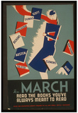 WPA (Read the Books) Art Poster Print Pósters
