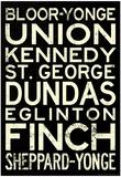 Toronto Metro Stations Vintage Travel Poster Posters