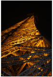 Paris France Eiffel Tower at Night 2 Photo Art Print Poster Photo
