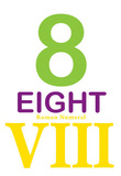 Number 8 Sign with Roman Numeral Banner Poster Masterprint
