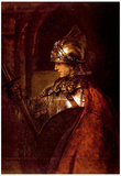 Rembrandt Man with Arms Alexander the Great Art Print Poster Posters