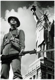 Soldier and Statue of Liberty New York City Archival Photo Poster Print Print