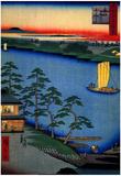 Utagawa Hiroshige Nijuku Ferry Art Print Poster Posters