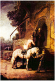 Rembrandt The Merciful Samaritan Art Print Poster Posters
