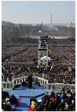 President Barack Obama (Giving Inaugural Address) Art Poster Print Print