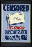 World War II (Censored) Art Poster Print Poster